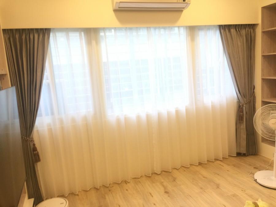 台北市高級公寓_客廳落地景觀窗