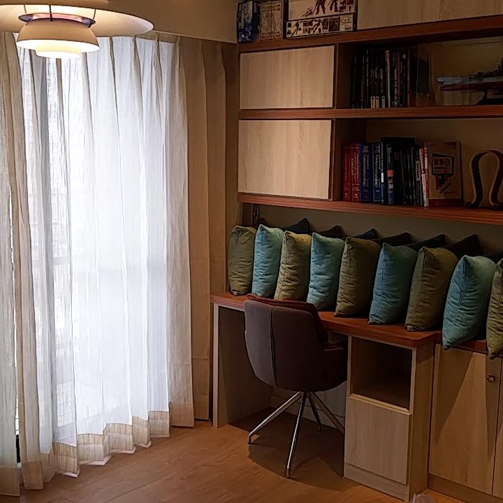 中壢海華星鑽_客廳進口麻紗搭配高質感綿麻質抱枕