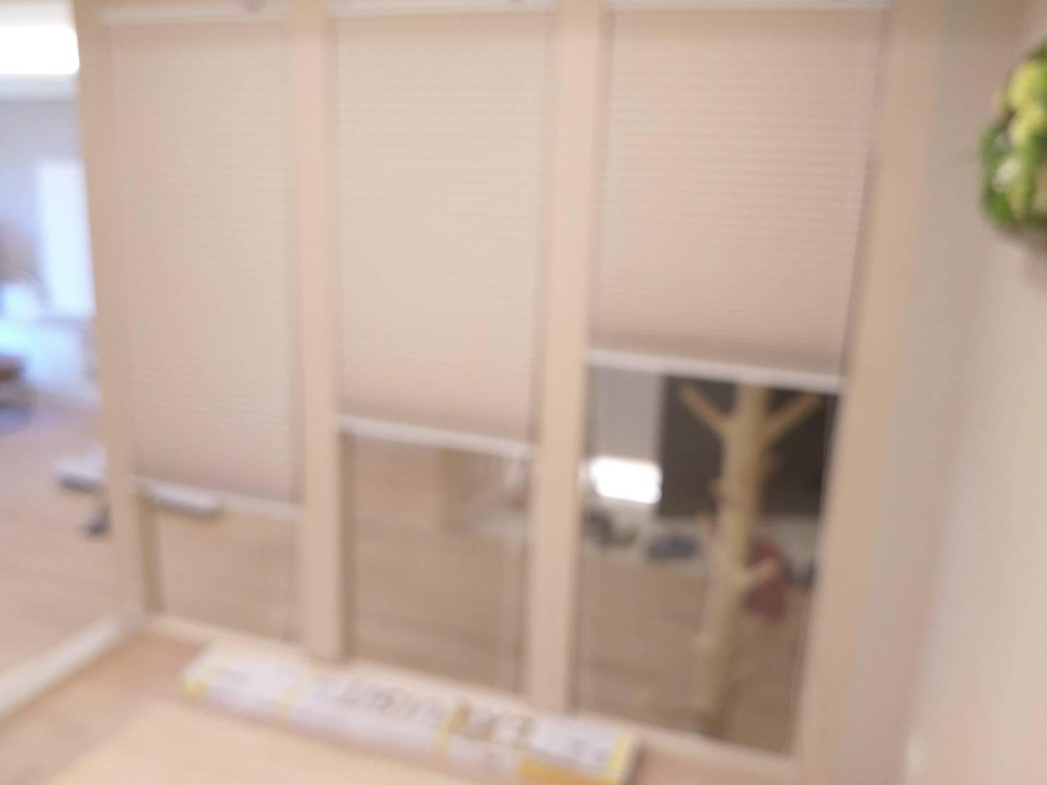 中壢海華國際星鑽_和室對客廳隔間室內窗{全遮光上下拉式蜂巢簾}