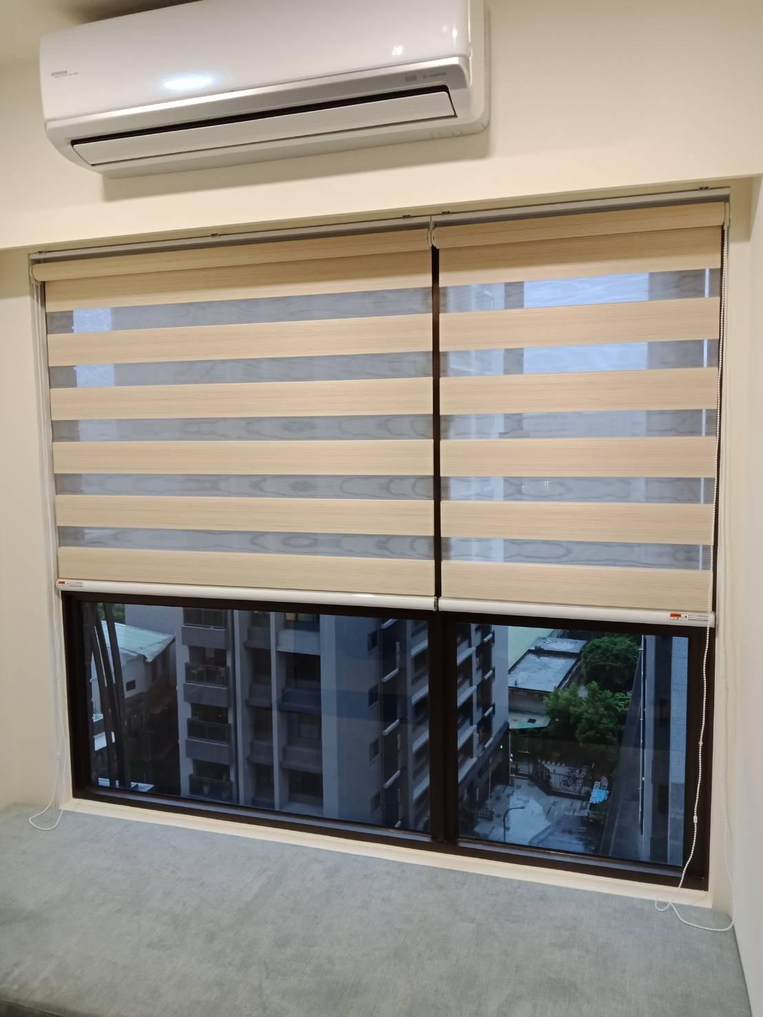 板橋家傳社區_客廳景觀窗{依窗框分大小窗製作}