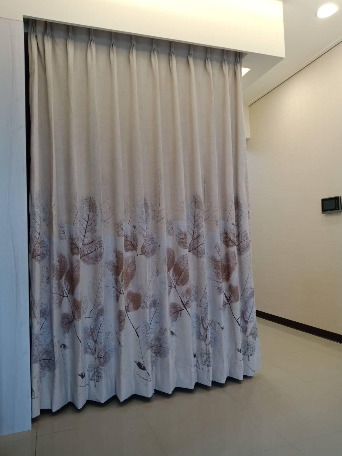 三峽優質社區大樓_高級印花絨布隔間簾